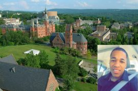 Who stabbed Anthony Nazaire Ithaca College student to death?