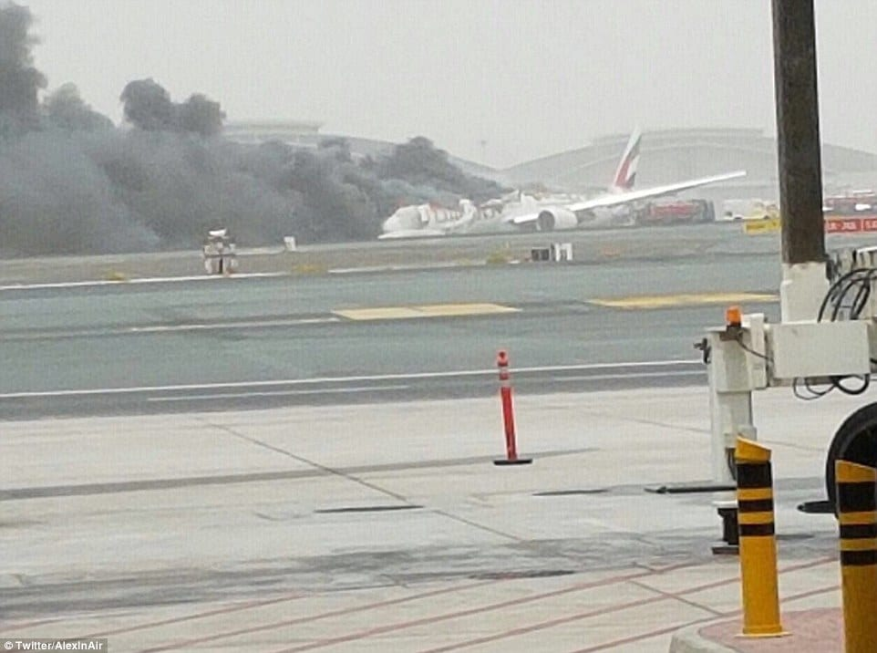 Emirates plane crash Dubai Airport