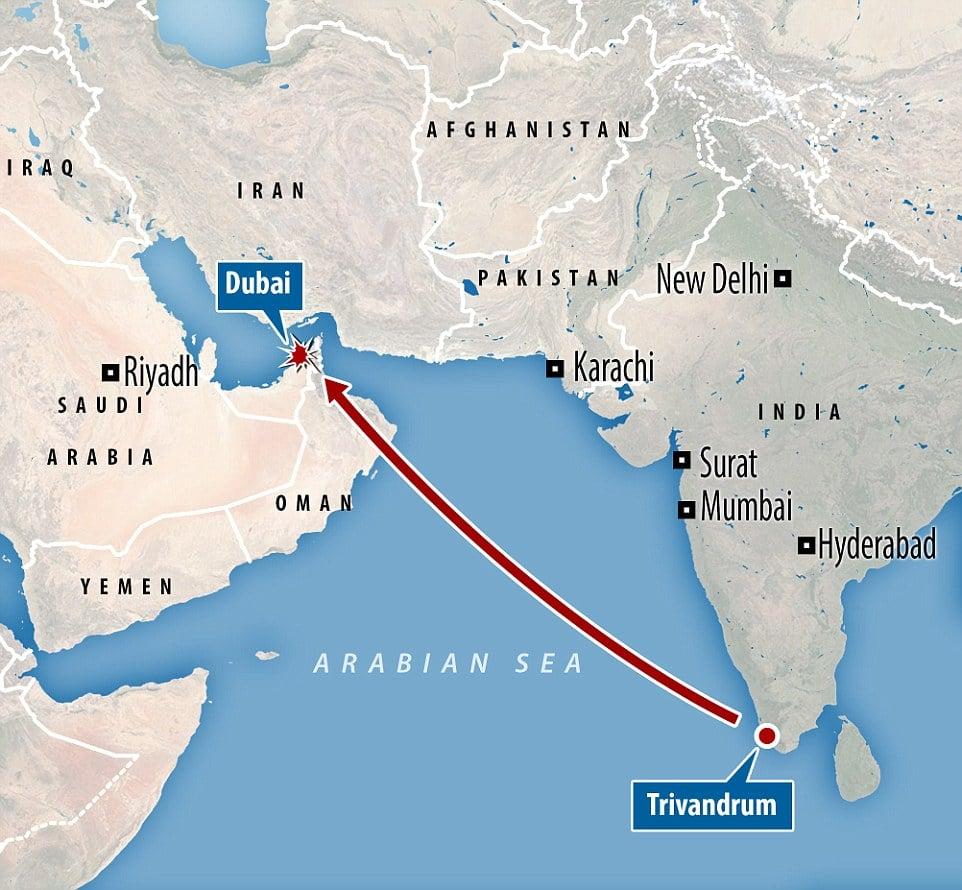 Emirates plane crash Dubai Airport