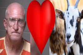 Freddie Wadsworth: 65 year old Georgia man arrested for kinky sex with goat (in broad daylight)