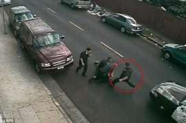 Watch LAPD Officer Richard Garcia kick Clinton Alford Jr to a pulp