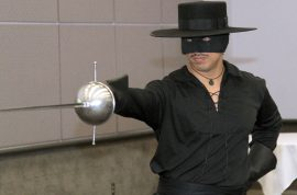 Zorro confused for LAX shooting scare. Auditioning actor wins lifetime role