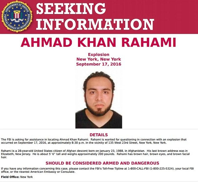 Ahmad Khan Rahami arrested