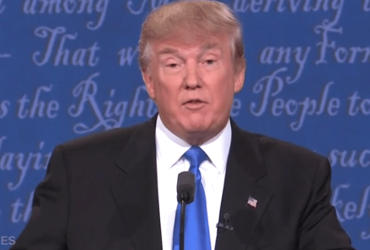 Donald Trump debate sniffles cocaine
