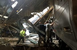 What caused the Hoboken train station crash? 1 dead, 75 injured