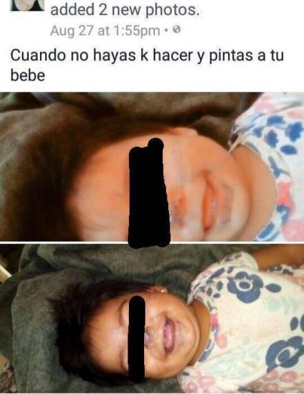 Mexican baby girl gagged facebook