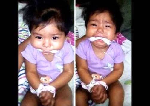 Mexican baby girl gagged facebook