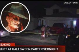 'Life imitating art' Freddy Krueger crashes Texas Halloween party shoots 5