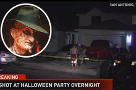 'Life imitating art' Freddy Krueger crashes Texas Halloween party shoots 5