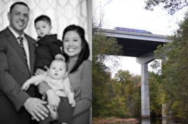 Why did John Spincken jump to his death holding his two toddler sons?