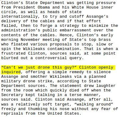 Julian Assange internet