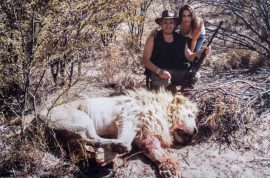 'Just another trophy' Matias Garfunkel Argentinian millionaire and model wife posing next to dead wild-life