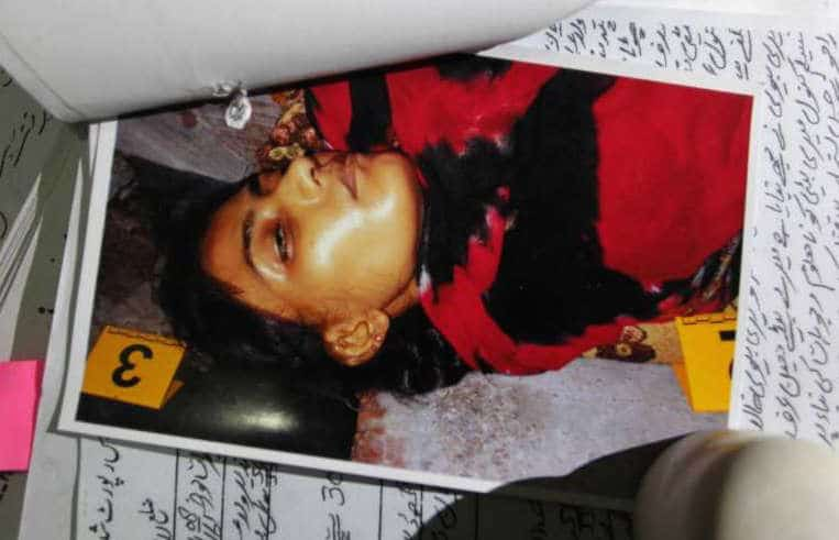 Pictured, Tasleem Rajhu. Shot dead at the hands of her brother,