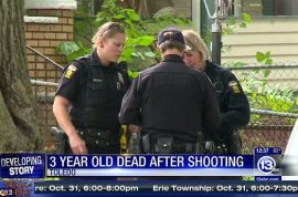 Tyrne Hoskins, 3 year old Ohio toddler accidentally shot dead by 7 year old