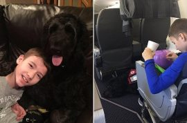 Bryant Weasel disabled boy kicked off by American Airlines cause service dog was too big