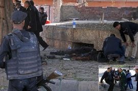Photos: Egypt Cairo bomb blast kills 6 policemen, injures others.