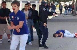 Watch: Logan Clark Hug High school attacker shot by campus cop