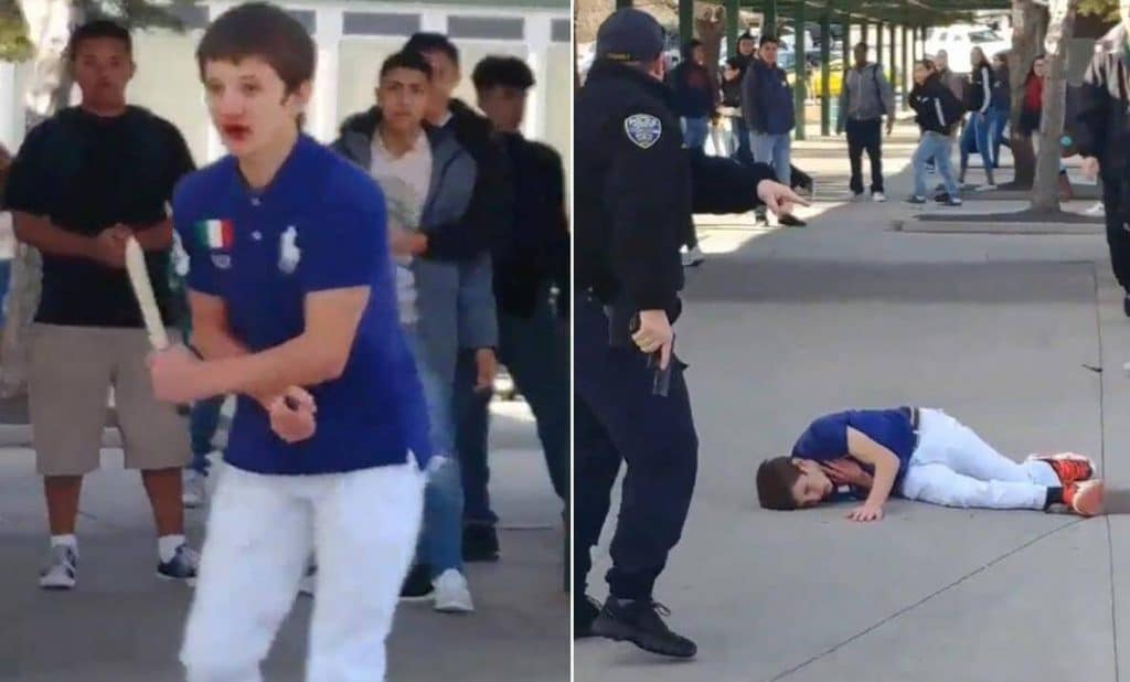 Hug High school knife attacker shot