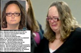 'Cowboy for me' Nicole Wilfinger math teacher sentenced after keeping diary of sex with 14 year old