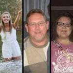 Pictured are the three victims that Kentucky State Police say  Courtney Taylor killed. From left to right, Larry Taylor and youngest daughter, Taylor.