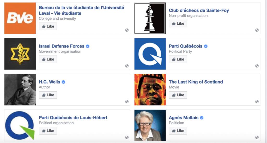 Alexandre Bissonnette Facebook page