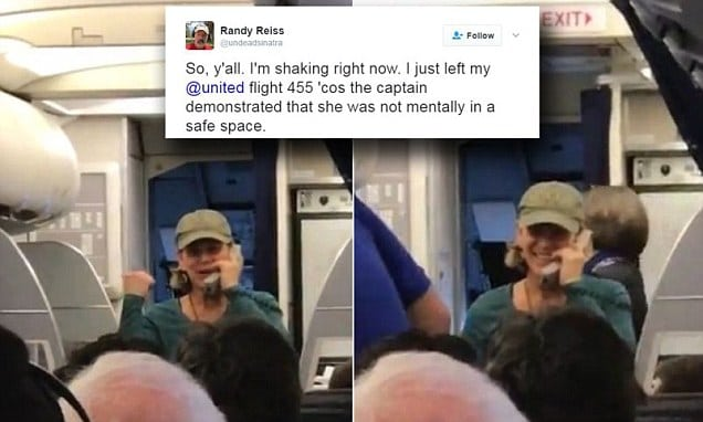 Ranting United Airlines pilot removed from flight