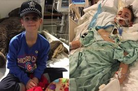 Henry Sembdner 12 year old boy beaten into coma by 14 year old classmate after accidentally bumping him.