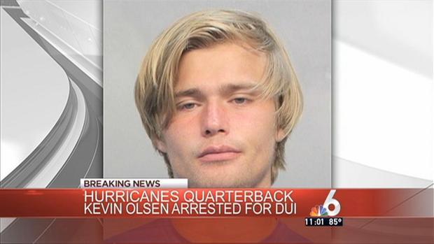 Kevin Olsen Charlotte quarterback arrested