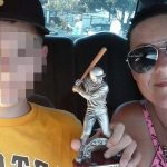 Pictured Mulberry, Florida teen, Michael Whidden with his mother, Jessica Whidden.