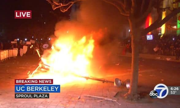 Milo Yiannopoulos Berkeley protests