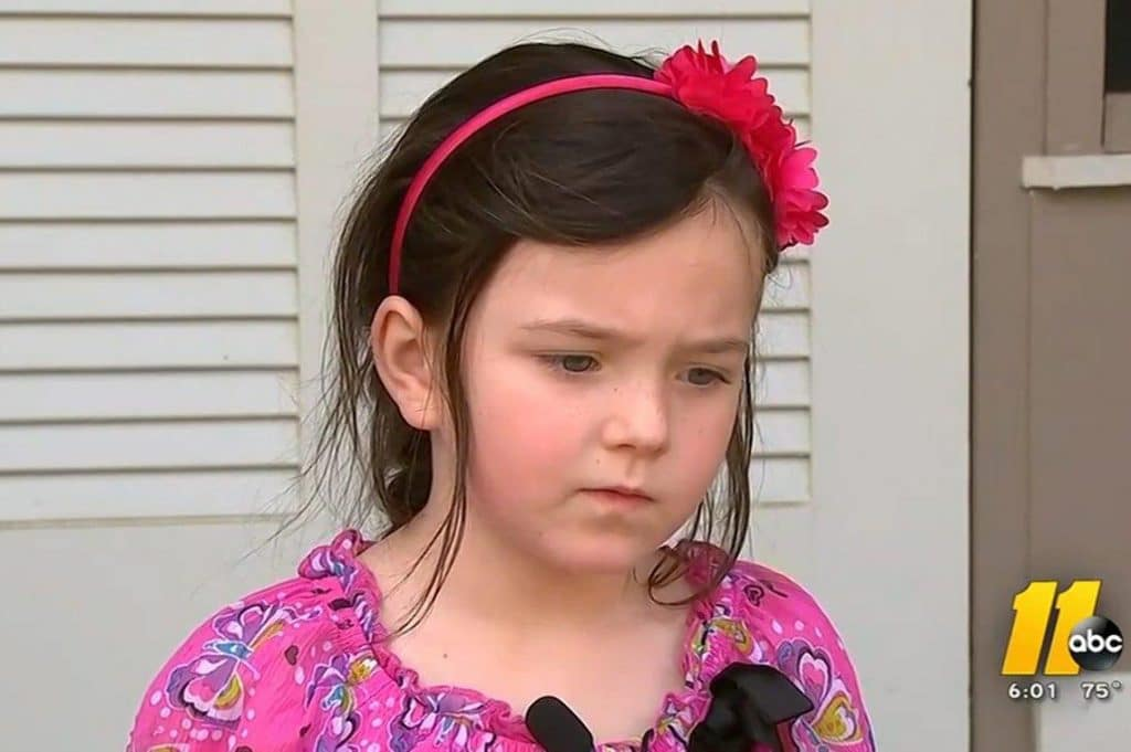 5 year old North Carolina kindergarten girl suspended