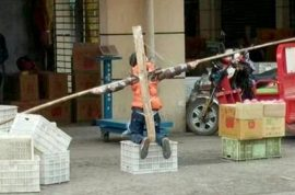 Chinese father crucifies ten year old son for refusing to do homework