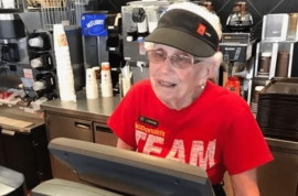 Loraine Maurer McDonald's 94 year old employee: 44 years of friends, family and fillet-o-fish
