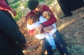 Why? Abdul Hamid Youssef Syrian dad clutches dead twins after gas attack