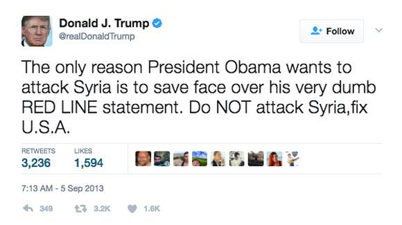 Donald Trump bomb Syria