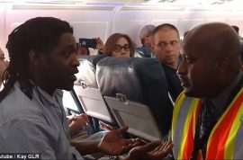 Kima Hamilton Delta idiot passenger thrown off for using bathroom during ground delay