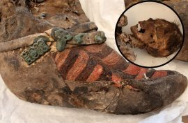 Who was Mongolian mummy wearing Adidas boots 1100 years ago?