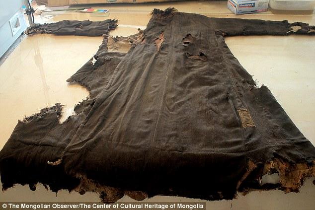 Mongolian mummy wearing Adidas boots