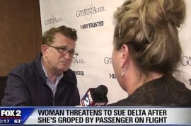 Christopher Finkley kinky: Rhonda Costigan sues Delta Airlines for failing to stop masturbating passenger