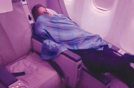 Serial offender: Captain Amir Akhtar Hashmi suspended after sleeping in business class while trainee pilot mans international flight