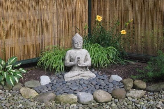 Creating home garden for meditation guide