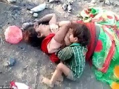 Crying Indian toddler found drinking milk from dead mother