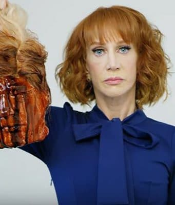 Kathy Griffin Donald Trump beheaded head