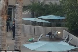 Watch: San Diego pool gunman shot dead after injuring eight