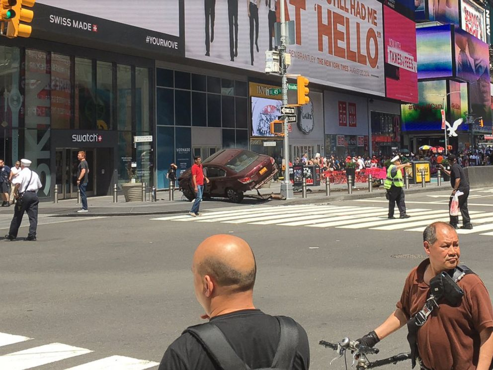 Times Square car crash