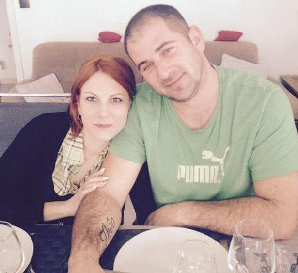 Pictured, estranged French couple, Emilie Hallouin and Guillaume Gremy.