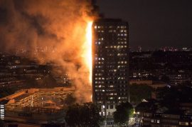 Grenfell Tower fire: London building with previous fire warning risks in blaze as residents jump for their lives