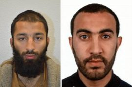 Missed chance: Khuram Shazad Butt and Rachid Redouane i'd as London Bridge attack suspects