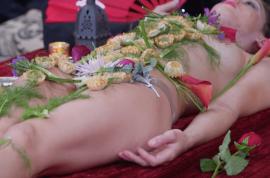Miranda Robero human food tray: Why I let people eat off my bare body