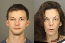 Laura Rideout and son Colin convicted of murdering, pouring acid on husband's face